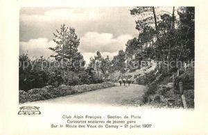 AK / Ansichtskarte Les_Vaux_de_Cernay Sur la Route Club Alpin Francais Caravanes scolaires de jeunes gens Les_Vaux_de_Cernay