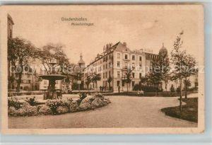 AK / Ansichtskarte Diedenhofen Moselanlagen Brunnen Diedenhofen