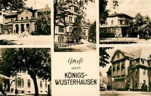 AK / Ansichtskarte Koenigs Wusterhausen Bahnhof Blindenschule HO Bahnhofshotel Amtsgericht Postamt Koenigs Wusterhausen