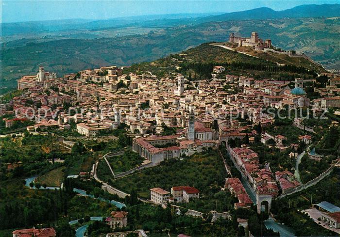 AK / Ansichtskarte Assisi_Umbria Fliegeraufnahme Assisi Umbria