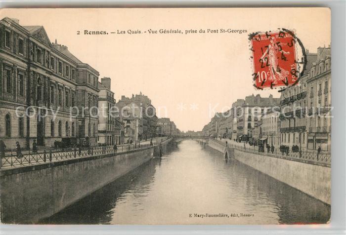 AK / Ansichtskarte Rennes_Ille et Vilaine Les Quais Vue generale prise du Pont St Georges