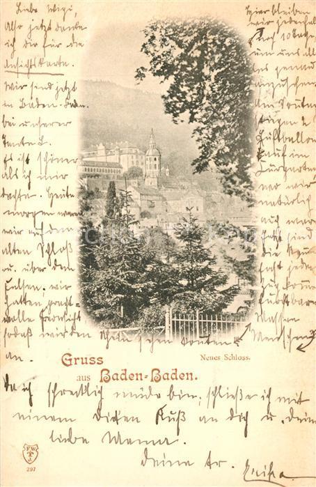 AK / Ansichtskarte Baden Baden Neues Schloss Baden Baden