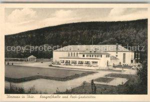 AK / Ansichtskarte Ilmenau_Thueringen Kongresshalle und Parkgaststaetten Ilmenau Thueringen