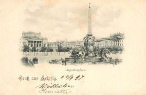 AK / Ansichtskarte Leipzig Augustusplatz Leipzig