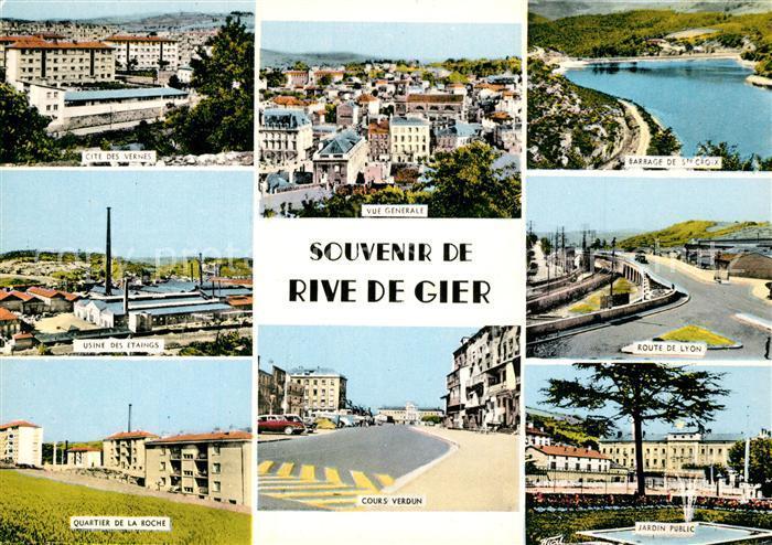 AK / Ansichtskarte Rive de Gier Route de Lyon Quartier de la Roche Usine des Etaings Barrage de St. Croix Rive de Gier 0