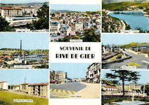 AK / Ansichtskarte Rive de Gier Route de Lyon Quartier de la Roche Usine des Etaings Barrage de St. Croix Rive de Gier