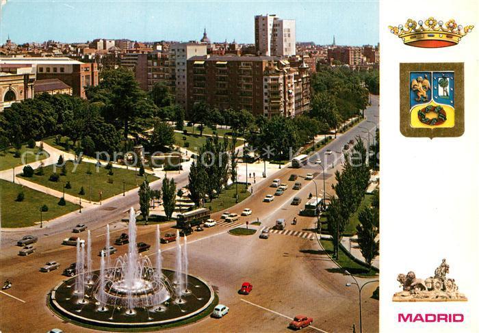 AK / Ansichtskarte Madrid_Spain Fliegeraufnahme Plaza de San Juan de la Cruz Madrid Spain