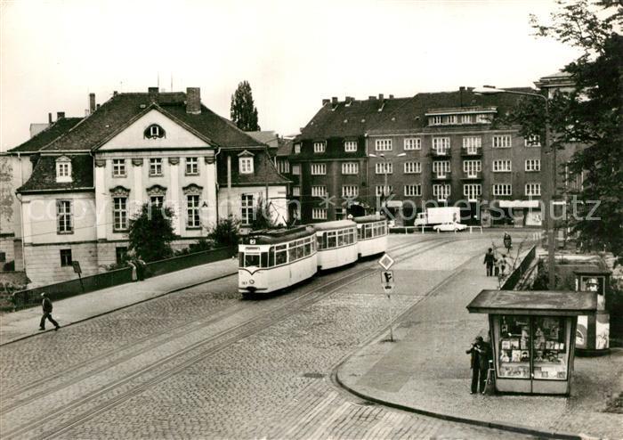 AK / Ansichtskarte Strassenbahn Serie 80 Jahre Strassenbahn Brandenburg Nr 11 Friedensbruecke 1976
