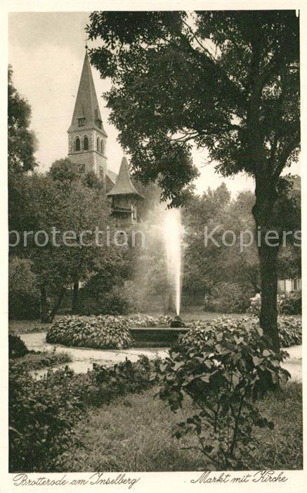 AK / Ansichtskarte Brotterode Markt mit Kirche Brotterode