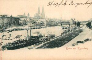 AK / Ansichtskarte Regensburg Panorama Regensburg
