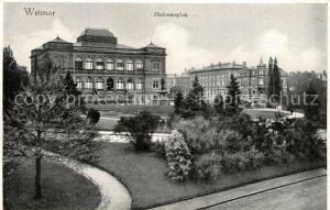 AK / Ansichtskarte Weimar_Thueringen Museumsplatz Weimar Thueringen