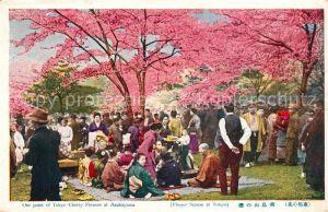 AK / Ansichtskarte Tokyo Tokyo Cherry Flowers Asukayama Tokyo