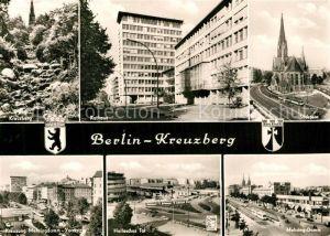 AK / Ansichtskarte Kreuzberg_Berlin Rathaus Suedstern Kirche Mehringdamm Hallesches Tor Kreuzberg Berlin