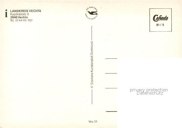 Ak Ansichtskarte Vechta Landkarte Des Landkreises Vechta Nr