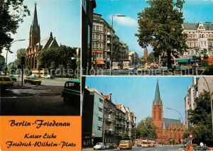 AK / Ansichtskarte Friedenau_Berlin Kaiser Eiche Friedrich Wilhelm Platz Kirche Friedenau Berlin