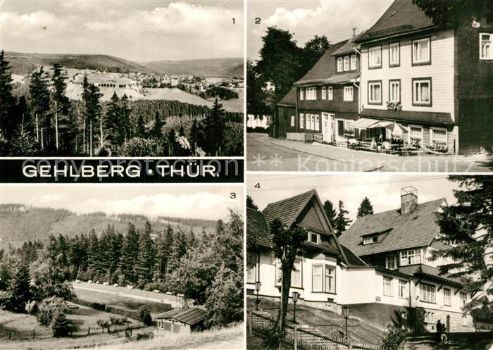 AK / Ansichtskarte Gehlberg Panorama Cafe Hauptstrasse Waldbad FDGB Erholungsheim Haus Daheim Gehlberg