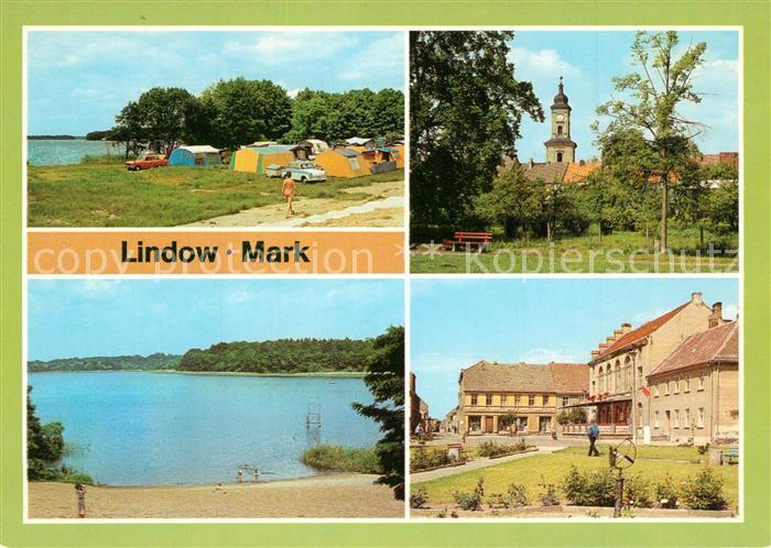 AK / Ansichtskarte Lindow_Mark Camping am Gudelackersee Wutzsee Markt Lindow Mark