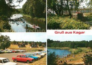 AK / Ansichtskarte Kagar Repenter Kanal Restaurant Beckersm?hle Grosser Zermittensee Kagar