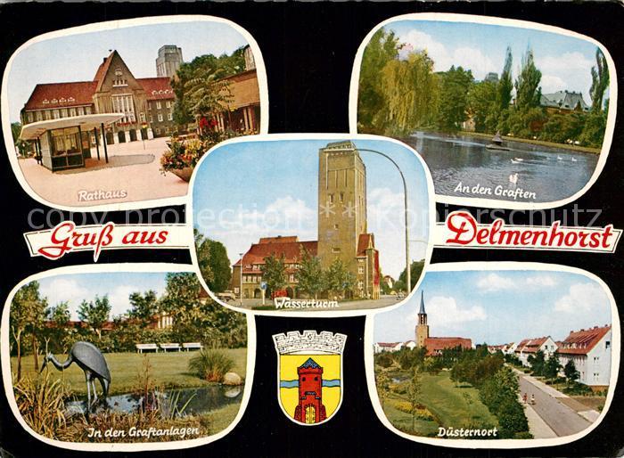 AK / Ansichtskarte Delmenhorst Rathaus Graften D?sternort Wasserturm  Delmenhorst
