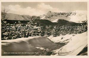 AK / Ansichtskarte Schneegruben Winterpanorama Blick vom Leiterweg nach Schneegruben Baude Riesengebirge Schneegruben