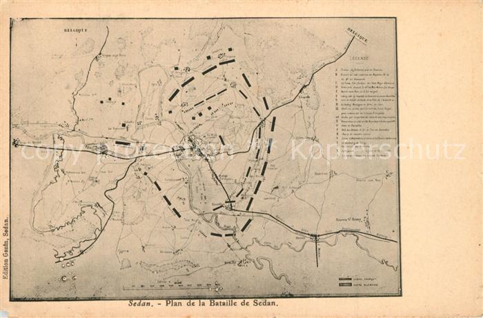 AK / Ansichtskarte Sedan_Ardennes Plan de la Bataille de Sedan Sedan Ardennes