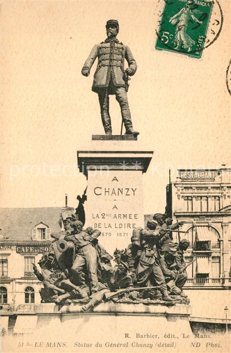 AK / Ansichtskarte Le_Mans_Sarthe Statue du General Chanzy Le_Mans_Sarthe