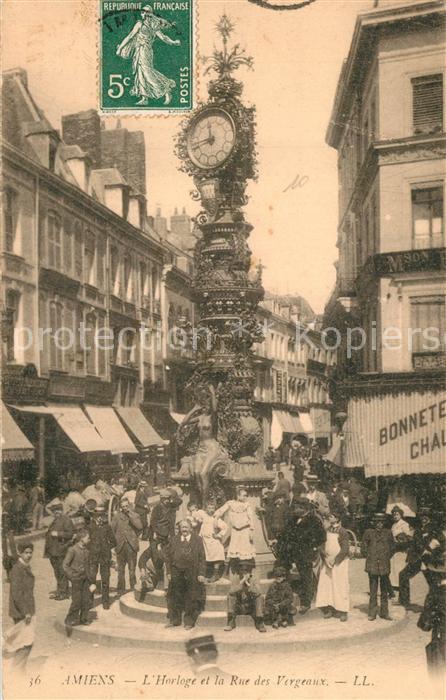 AK / Ansichtskarte Amiens Horloge Rue des Vergeaux Amiens