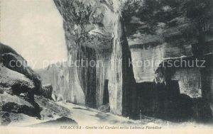 AK / Ansichtskarte Siracusa Grotta del Cordari Latomia Paradiso Siracusa