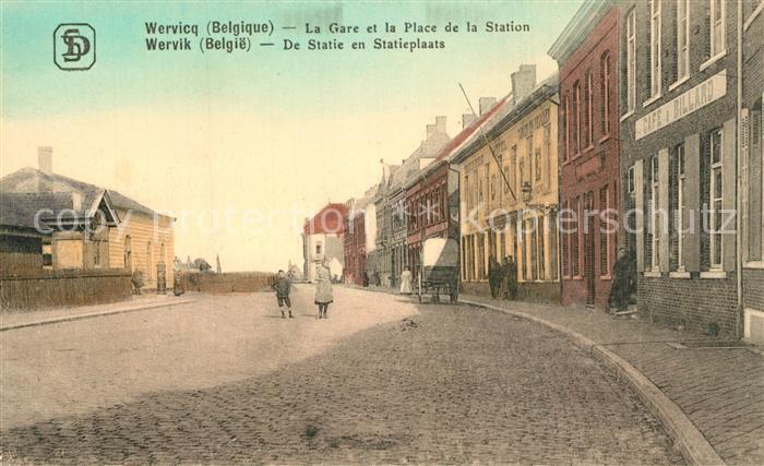 AK / Ansichtskarte Wervik La Gare et la Place de la Station Wervik
