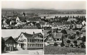AK / Ansichtskarte Kreuzlingen_Bodensee und Konstanz Restaurant Heimat Besitzer Otto Haller Kreuzlingen Bodensee