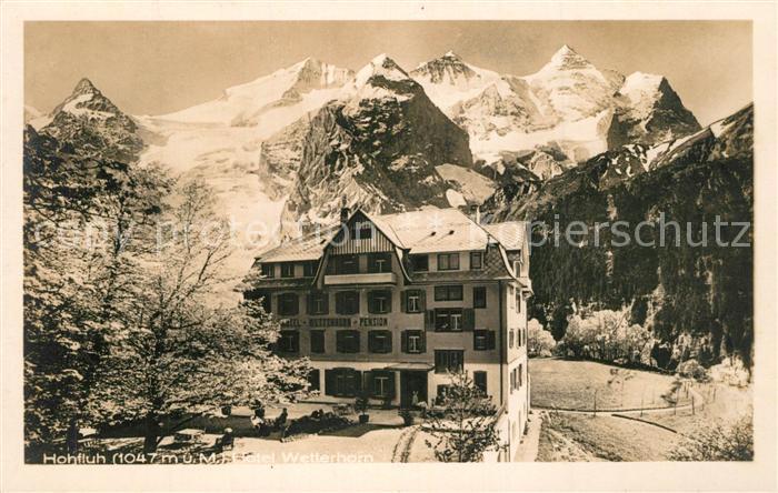AK / Ansichtskarte Hohfluh_Bruenig_BE Hotel Wetterhorn Berner Alpen Hohfluh_Bruenig_BE 0