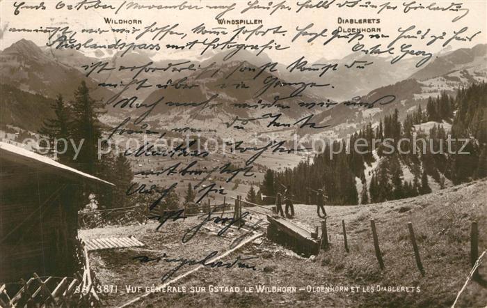 AK / Ansichtskarte Gstaad Panorama Wildhorn Oldenhorn Les Diablerets Gstaad
