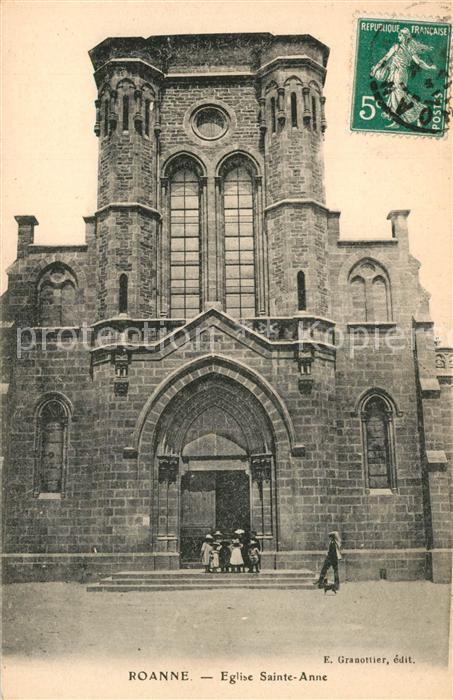 AK / Ansichtskarte Roanne_Loire Eglise Sainte Anne Kirche Roanne Loire