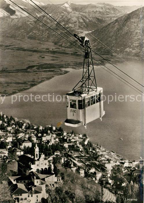 AK / Ansichtskarte Orselina_Locarno_Lago_Maggiore Funivia Locarno Orselina Cardada Bergbahn Alpen Orselina_Locarno