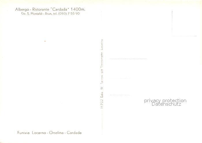 AK / Ansichtskarte Orselina_Locarno_Lago_Maggiore Funivia Locarno Orselina Cardada Bergbahn Alpen Orselina_Locarno 1
