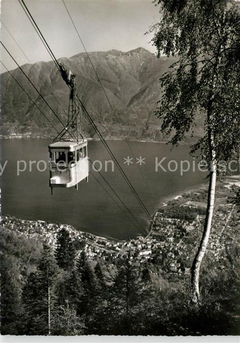 AK / Ansichtskarte Locarno_Lago_Maggiore Funivia Locarno Orselina Cardada Bergbahn Alpen Locarno_Lago_Maggiore