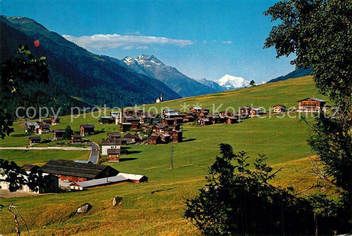 AK / Ansichtskarte Gluringen Panorama Weisshorn Gluringen 0