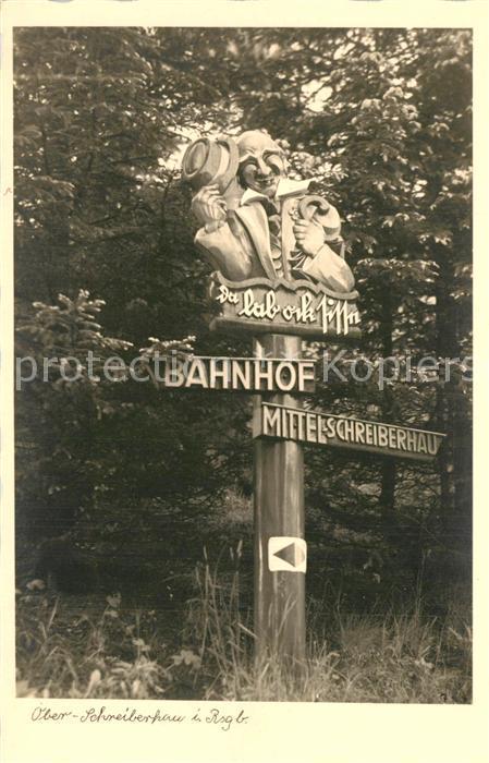 AK / Ansichtskarte Ober Schreiberhau Wegweiser  Ober Schreiberhau
