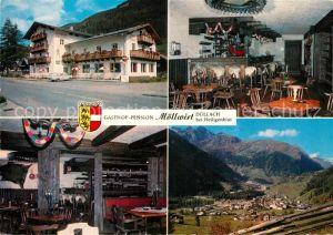 AK / Ansichtskarte Doellach_Kaernten Gasthof Pension Moellwirt Panorama Alpen Doellach_Kaernten