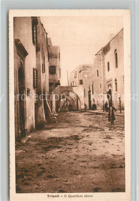 AK / Ansichtskarte Tripoli_Tarabulus Quartiere ebreo Tripoli Tarabulus
