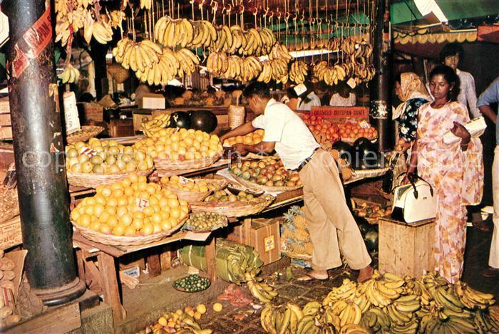 AK / Ansichtskarte Port_Louis Markt Port_Louis
