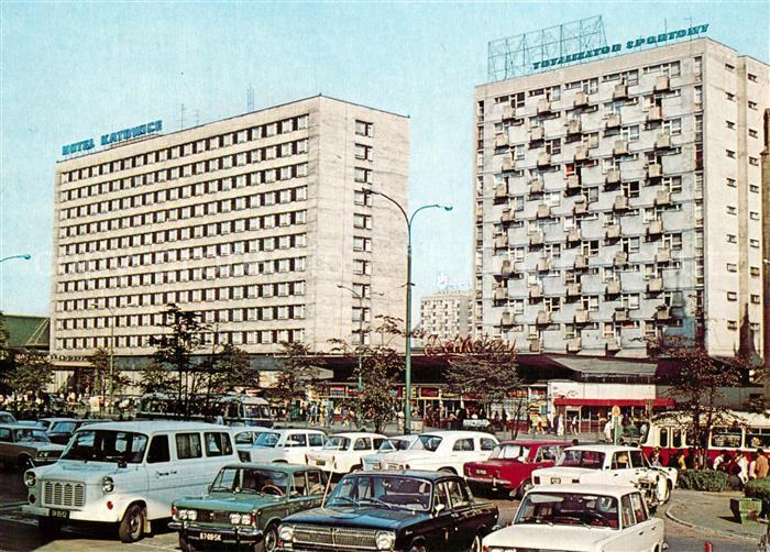 AK / Ansichtskarte Katowice Hotelanlagen Katowice