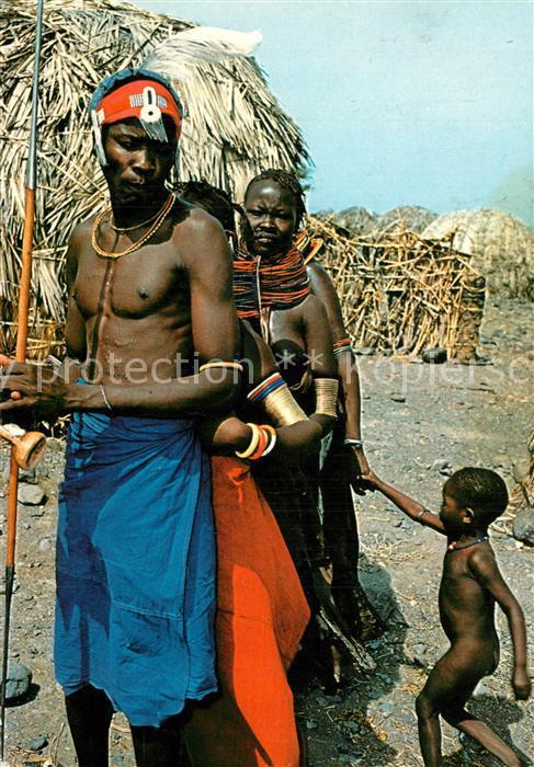 AK / Ansichtskarte Kenya Turkana Family Kenya