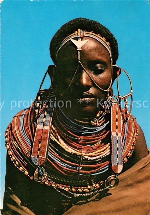 AK / Ansichtskarte Kenya Samburu Woman Kenya