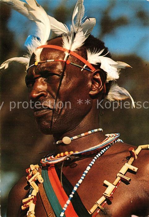 AK / Ansichtskarte Kenya Kikuyu Warrior Kenya