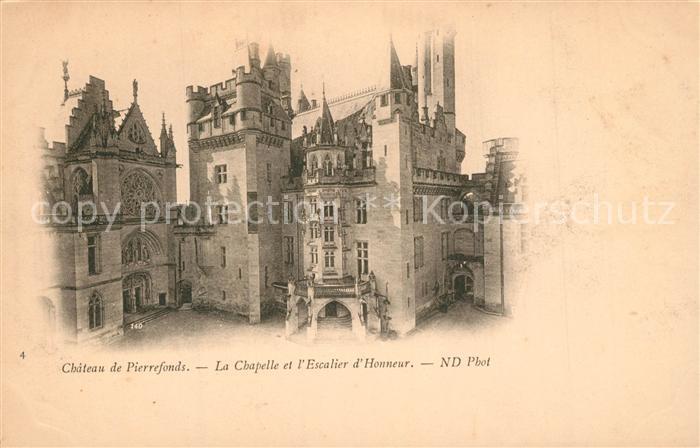 AK / Ansichtskarte Pierrefonds_Oise Chateau La Chapelle Escalier d Honneur Pierrefonds Oise 0