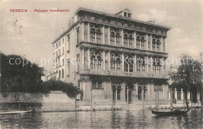AK / Ansichtskarte Venezia_Venedig Palazzo Vendramin Venezia Venedig 0