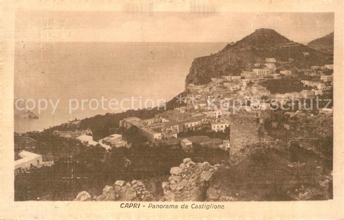 AK / Ansichtskarte Capri Panorama da Castiglione Capri 0