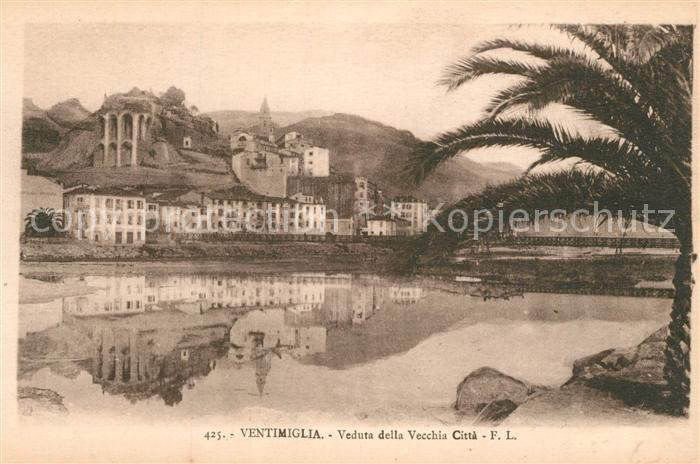AK / Ansichtskarte Ventimiglia_Riviera_dei_Fiori Veduta della Vecchia Citta Ventimiglia_Riviera 0
