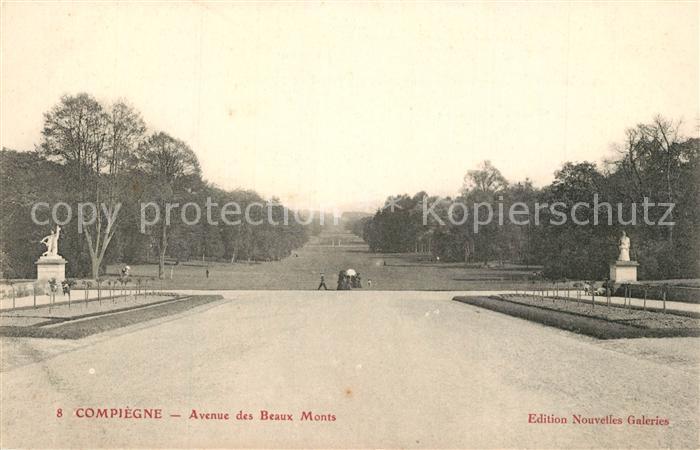 AK / Ansichtskarte Compiegne_Oise Avenue des Beaux Monts Compiegne Oise 0
